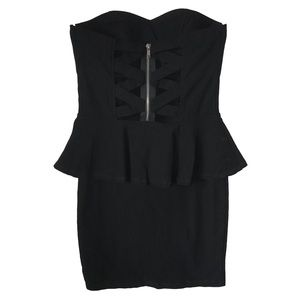 BODYCENTRAL sweet heart strapless mini dress